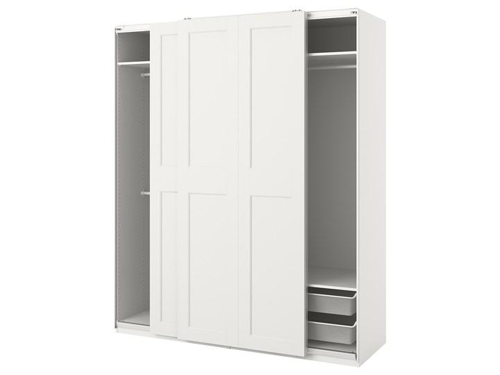 IKEA PAX / GRIMO Kombinacja szafy, biały, 200x66x236 cm Metal Stal Rodzaj frontów Mat