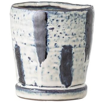 Doniczka Ulostamo Ø10x11 cm biało-niebieska