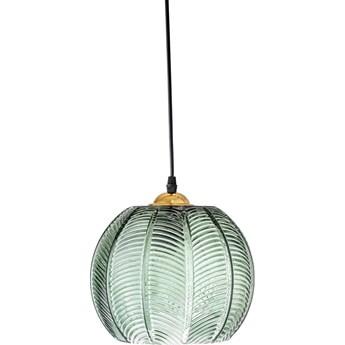 Lampa wisząca Leaf Ø23x20 cm transparentna zielona