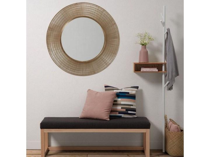 Lustro wiszące Plax ∅80 cm mosiężne Ścienne Pomieszczenie Sypialnia Lustro z ramą Okrągłe Pomieszczenie Salon