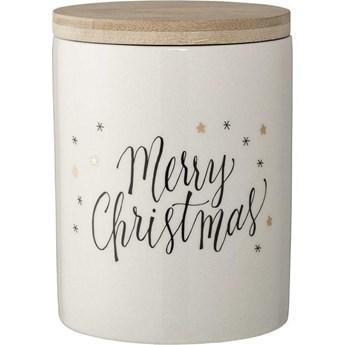 Pojemnik dekoracyjny Merry Christmas biały