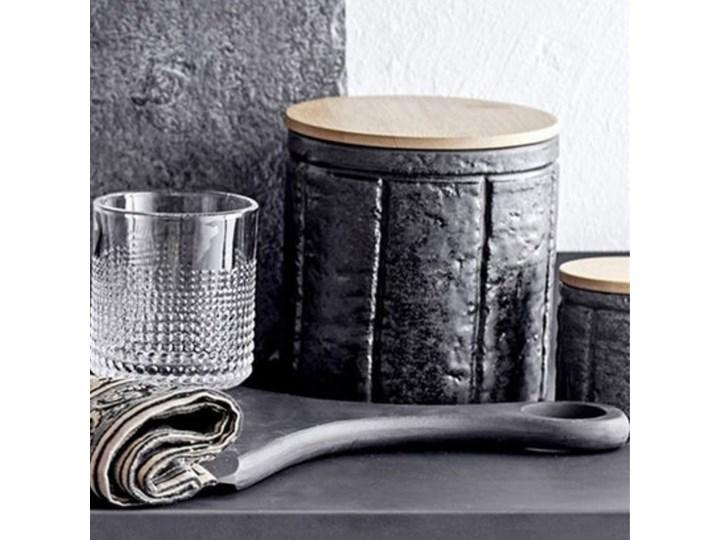 Pojemnik z pokrywką Cliff 150 ml czarny Żaroodporny Ceramika Drewno Kategoria Pojemniki i puszki