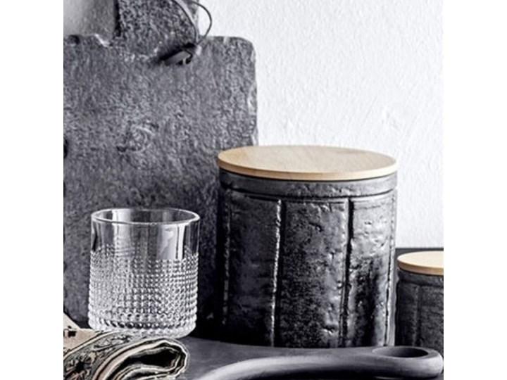Pojemnik z pokrywką Cliff 600 ml czarny Żaroodporny Ceramika Typ Pojemniki Drewno Kategoria Pojemniki i puszki