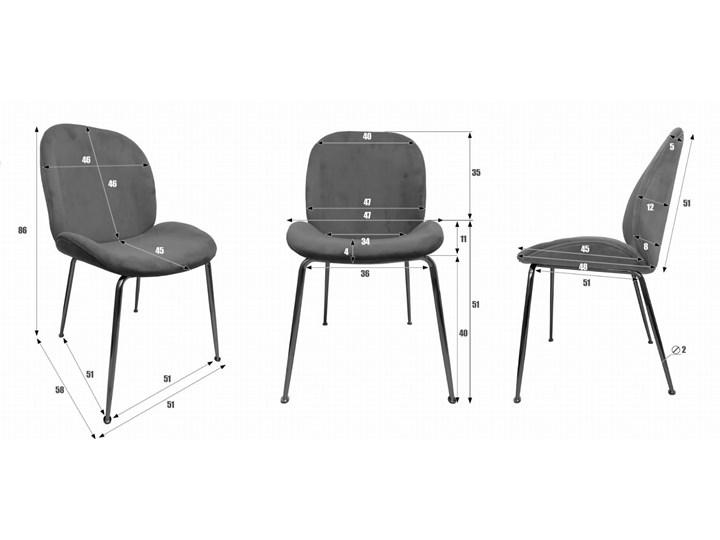 Krzesło ze złotymi nóżkami S-0728 Czarny #66 Tkanina Tapicerowane Metal Tworzywo sztuczne Styl Nowoczesny