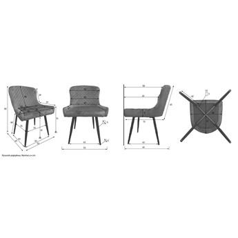 Krzesło welurowe do jadalni S-0734 Niebieski #64
