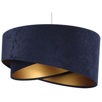 Granatowo-złota lampa wisząca glamour - EX985-Leris