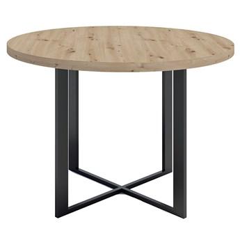 Okrągły stół z blatem Dąb artisan - Inger