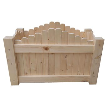 Drewniana prostokątna donica ogrodowa 6 rozmiarów - Satina