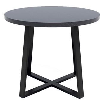 Stół okrągły z blatem Wytrawny szary kamień - Jens