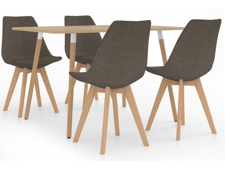 Szarobrązowy 5-częściowy zestaw mebli – Avril Kategoria Stoły z krzesłami Kolor Beżowy