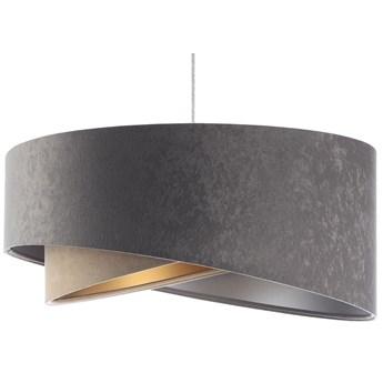 Szara welurowa lampa wisząca do sypialni - EX993-Nadox
