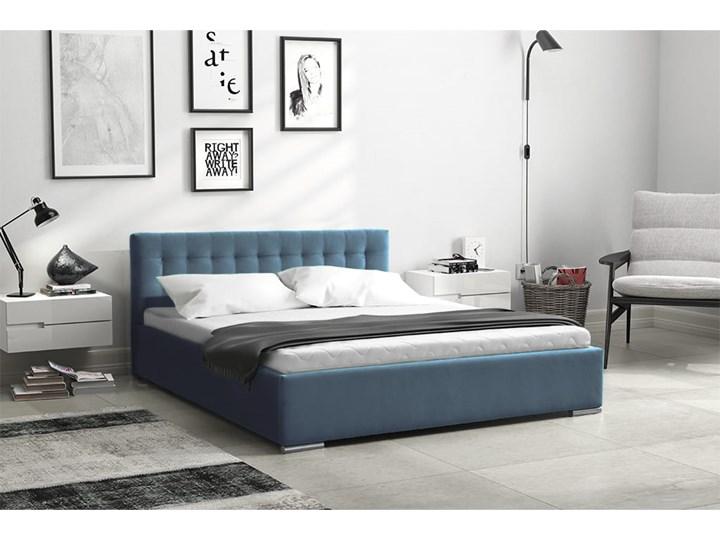 Łóżko tapicerowane Real z pojemnikiem/ velvet Tkanina Kolor Welur Metal Drewno Styl Klasyczny