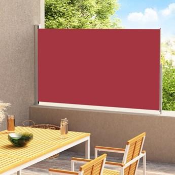 vidaXL Zwijana markiza boczna na taras, 200x300 cm, czerwona