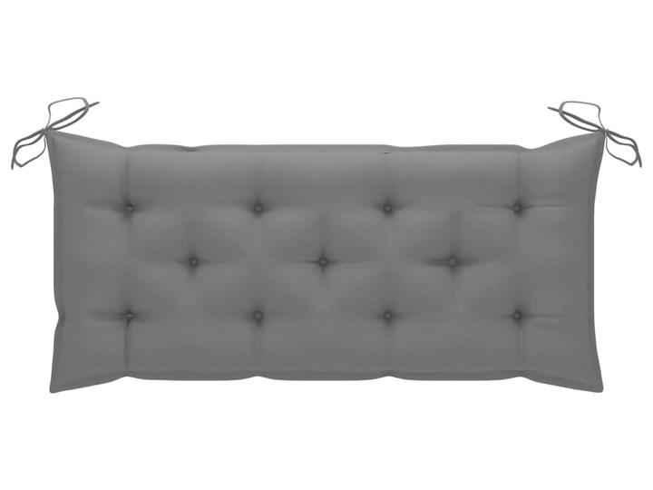 vidaXL Huśtawka ogrodowa z szarą poduszką, 120 cm, lite drewno tekowe Kategoria Huśtawki ogrodowe Typ Huśtawka ze stelażem