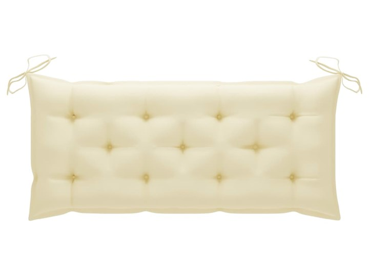 vidaXL Huśtawka ogrodowa z kremową poduszką, 120 cm, drewno tekowe Kolor Beżowy Typ Huśtawka ze stelażem