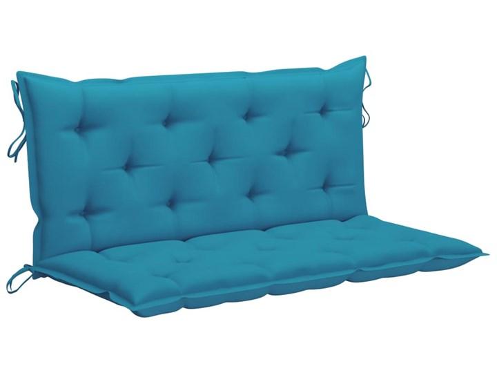 vidaXL Huśtawka ogrodowa z niebieską poduszką, 120 cm, drewno tekowe Typ Huśtawka ze stelażem Kategoria Huśtawki ogrodowe
