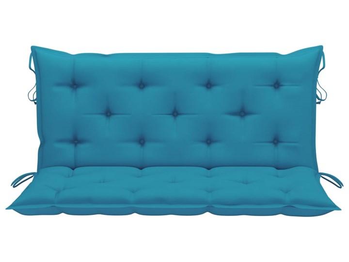 vidaXL Huśtawka ogrodowa z niebieską poduszką, 120 cm, drewno tekowe Typ Huśtawka ze stelażem