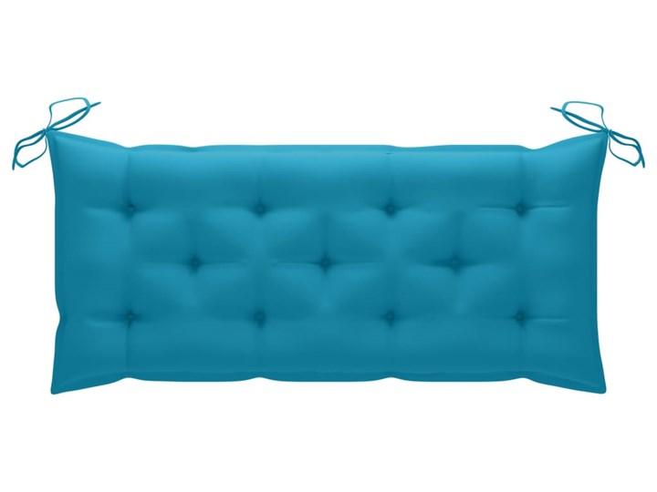 vidaXL Huśtawka ogrodowa z niebieską poduszką, 120 cm, drewno tekowe Kategoria Huśtawki ogrodowe Typ Huśtawka ze stelażem