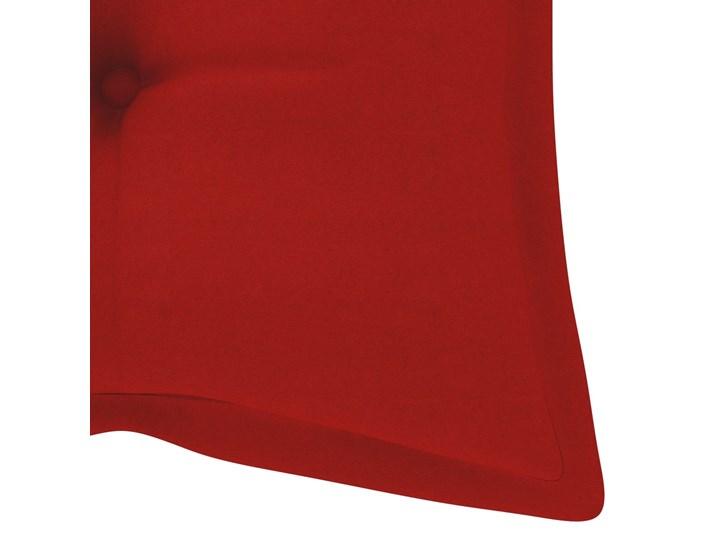 vidaXL Huśtawka ogrodowa z czerwoną poduszką, 120 cm, drewno tekowe Typ Huśtawka ze stelażem Kategoria Huśtawki ogrodowe