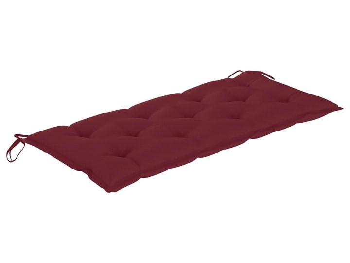 vidaXL Huśtawka ogrodowa z czerwoną poduszką, 120 cm, drewno tekowe Kategoria Huśtawki ogrodowe