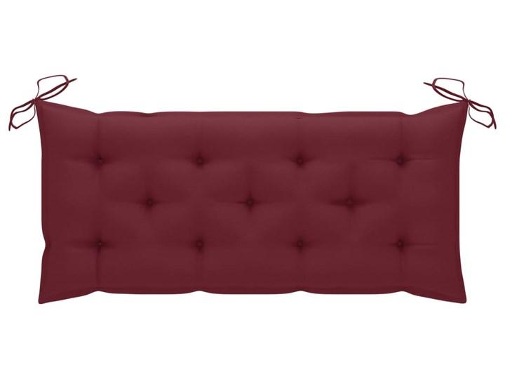 vidaXL Huśtawka ogrodowa z czerwoną poduszką, 120 cm, drewno tekowe Typ Huśtawka ze stelażem