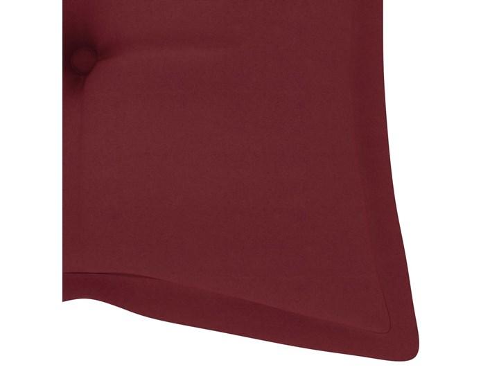 vidaXL Huśtawka ogrodowa z czerwoną poduszką, 120 cm, drewno tekowe Kolor Czerwony Kategoria Huśtawki ogrodowe