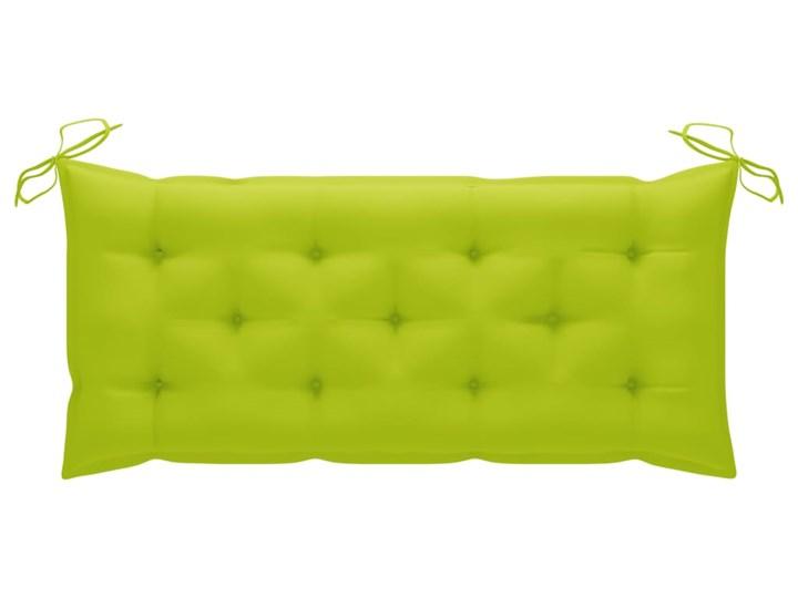 vidaXL Huśtawka ogrodowa z jasnozieloną poduszką, 120cm, drewno tekowe Typ Huśtawka ze stelażem Kolor Brązowy
