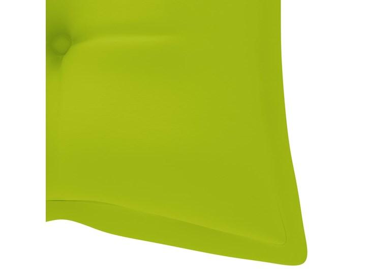 vidaXL Huśtawka ogrodowa z jasnozieloną poduszką, 120cm, drewno tekowe Kolor Brązowy