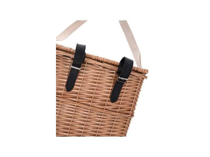 Kosz piknikowy rowerowy z wyposażeniem dla 2 osób DUKA PICKNICK brązowy wiklina Kategoria Akcesoria piknikowe