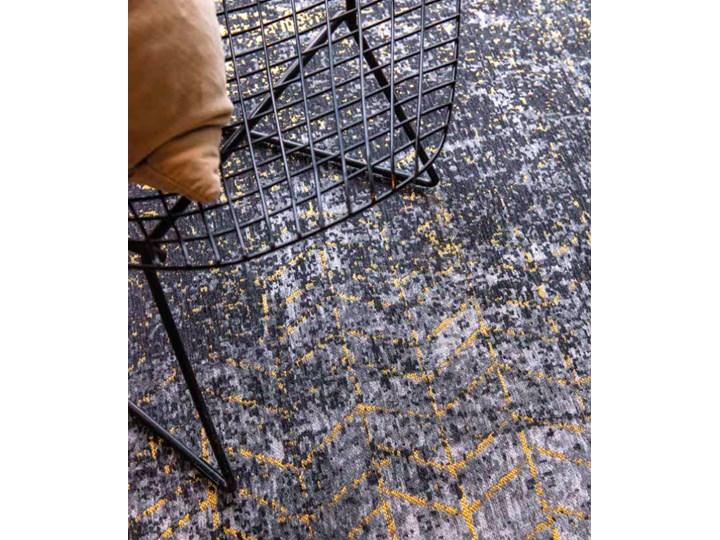 Dywan Nowoczesny Czarno Złoty - Broadway Glitter 8422 Bawełna Poliester Dywany Prostokątny Pomieszczenie Salon