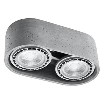 Oświetlenie sufitowe BASIC 2xGU10/40W/230V beton