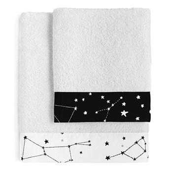 Zestaw 2 bawełnianych ręczników Blanc Constellation