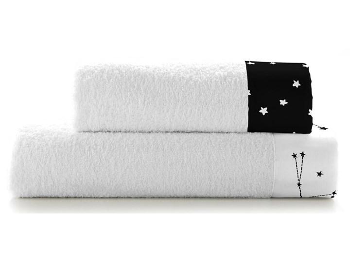 Zestaw 2 bawełnianych ręczników Blanc Constellation Bawełna 70x140 cm Ręcznik kąpielowy 50x100 cm Kolor Biały Komplet ręczników Kategoria Ręczniki