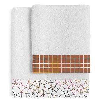 Zestaw 2 bawełnianych ręczników Blanc Net