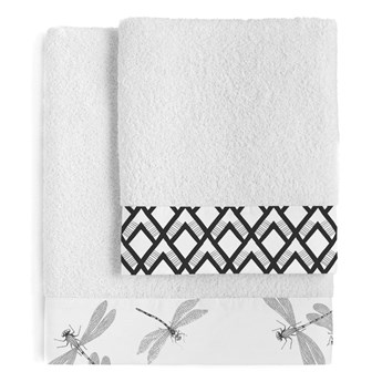 Zestaw 2 bawełnianych ręczników Blanc Estuary