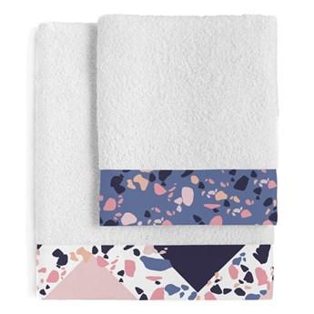 Zestaw 2 bawełnianych ręczników Blanc Terrazzo