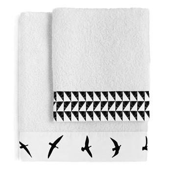 Zestaw 2 bawełnianych ręczników Blanc Trip