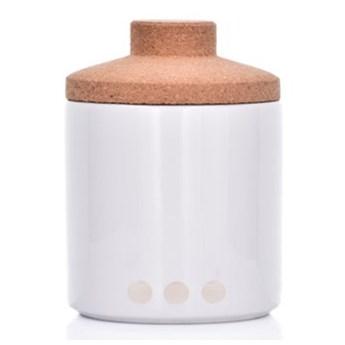 Pojemnik kuchenny na czosnek i cebulę DUKA VIT 9x13 cm biały porcelana