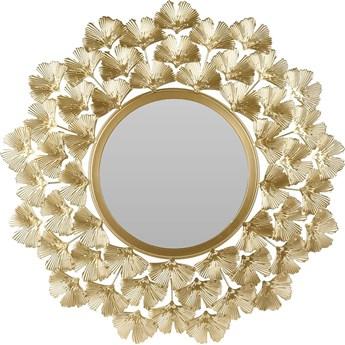 Okrągłe lustro złote w stylu glamour - Estamo
