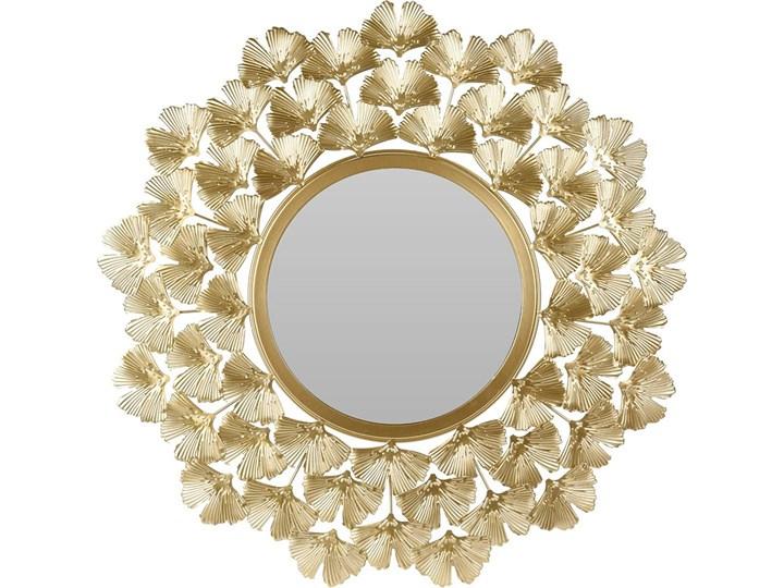 Okrągłe lustro złote - Estamo Ścienne Styl Klasyczny Styl Glamour