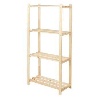 Regał drewniany 130 x 65 x 30 cm 4 półki 20 kg