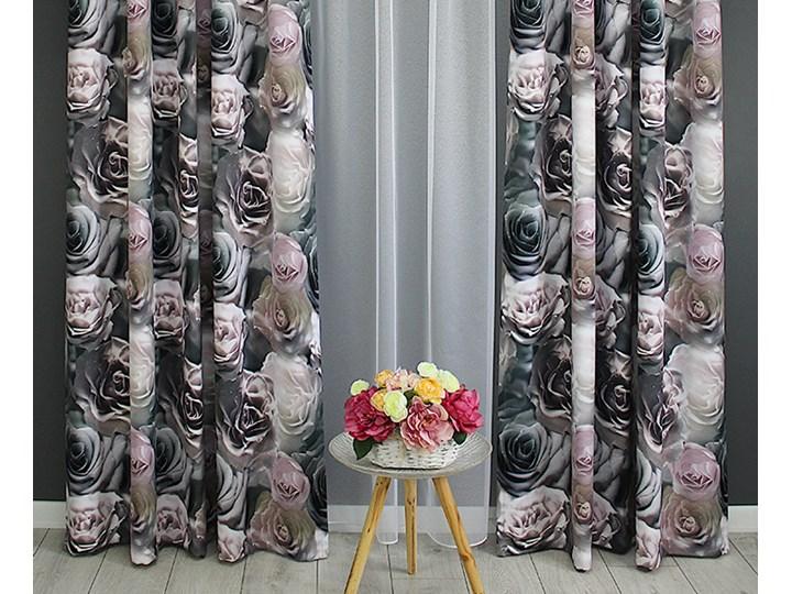 Zasłona gotowa 140x250 3D róże pastelowe