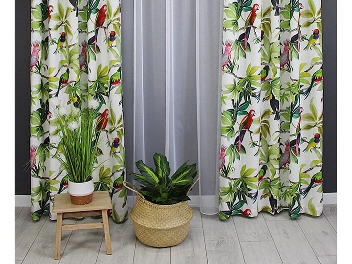 Zasłona gotowa 140x250 tropical papugi liście egzotyczna