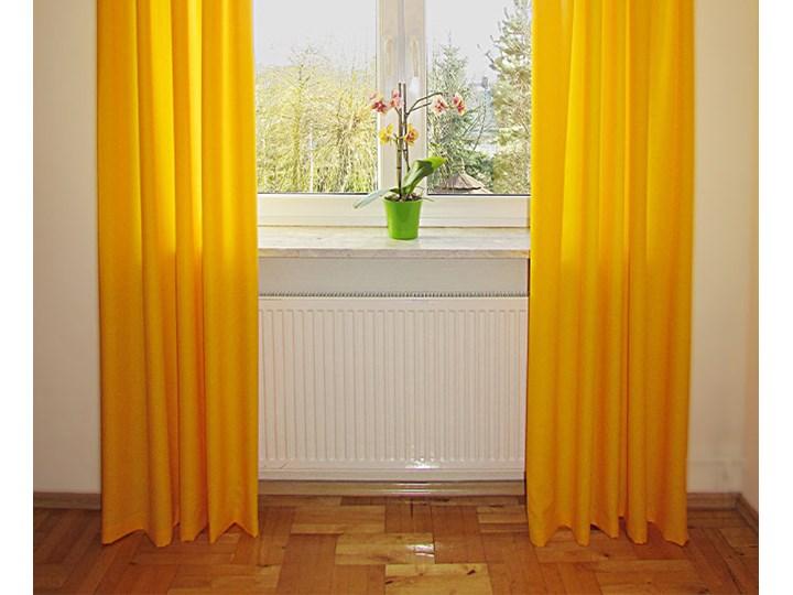 Zasłona gotowa 140x250 lisa żółta