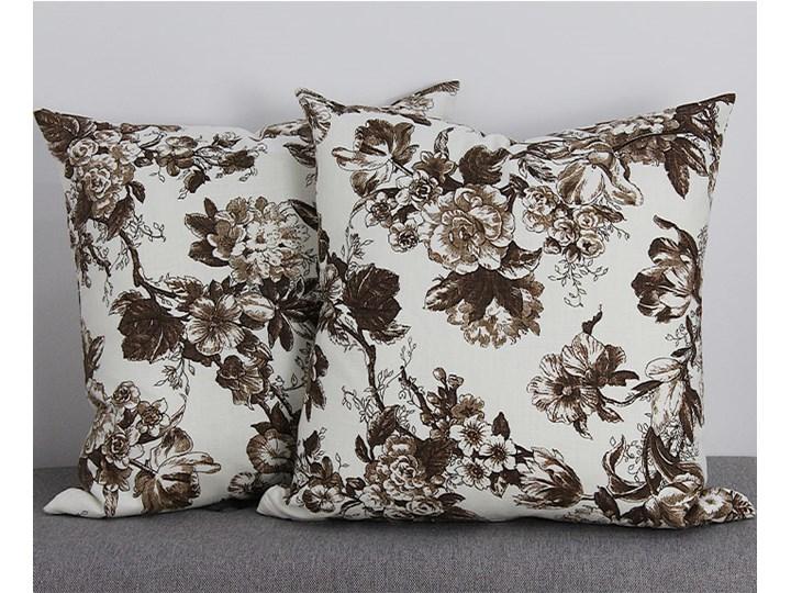 Poszewka ozdobna natura kwiaty brąz Kwadratowe 43x43 cm 45x45 cm Poszewka dekoracyjna Bawełna Kategoria Poduszki i poszewki dekoracyjne