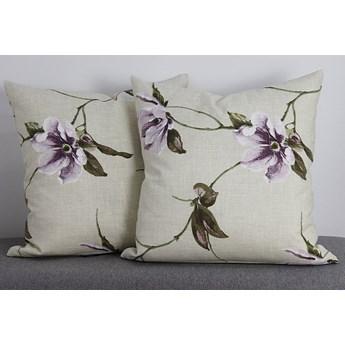Poszewka ozdobna natura magnolia wrzos