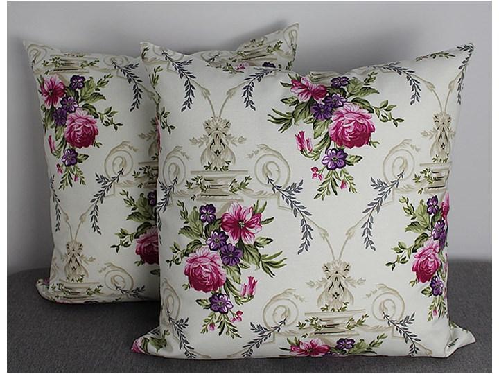 Poszewka ozdobna natura róże fioletowo-różowe Bawełna Kwadratowe 45x45 cm Poszewka dekoracyjna 43x43 cm Kolor Różowy