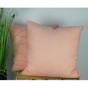 Poszewka pościelowa frotte pudrowy róż jasny 09 + poduszka silikon