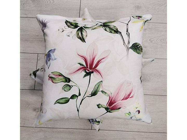 Poszewka Dekoracyjna Magnolia Różowa Poliester Kwadratowe 45x45 cm Kategoria Poduszki i poszewki dekoracyjne