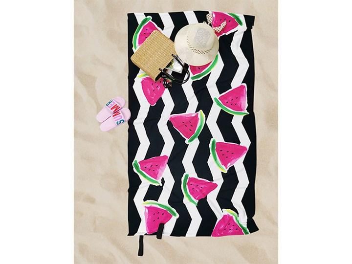 Ręcznik Plażowy arbuz Ręcznik kąpielowy Ręcznik z kapturkiem 90x170 cm Kolor Czarny